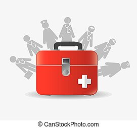 Medical design - Medical design over white background,...