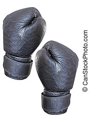 Boxing glove  - Black boxing glove on the hand