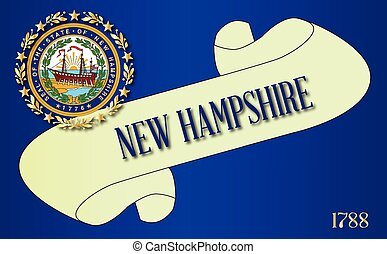 New Hampshire Scroll - A scroll with the text New Hampshire...