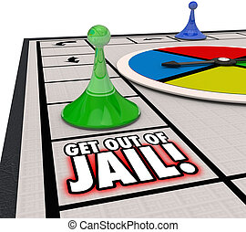 Get Out of Jail Board Game Prison Free Escape - Get Out of...