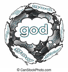 God Thought Clouds Thinking Spiritual Faith Belief Religion