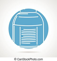 Round vector icon for creatine - Abstract blue round vector...