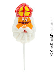 lollipop in the shape of Sinterklaas