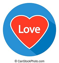 Love sign button. - Love sign button on white background....