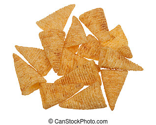 chilly corn chips isolated on a white background
