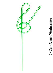 party drinking straw isolated on a white background