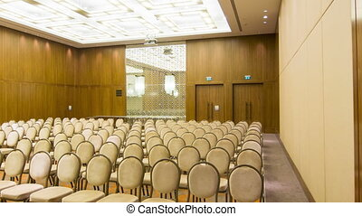Empty conference hall in premium business center