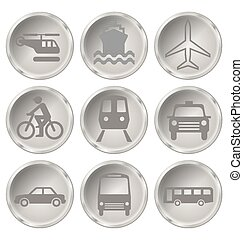 Transport Icons - Monochrome transport related icon set...