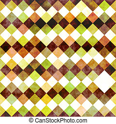 dirty color checks pattern - texture of grunge squares in...