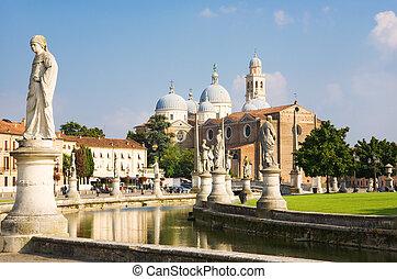 Padua Italy - Main square of Padua Italy.