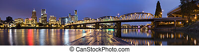 Panorama of Portland, Oregon, USA. - View of Portland,...