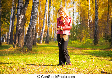 Young woman in a park