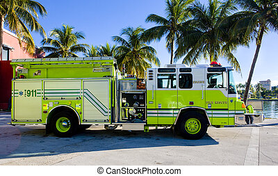 fire engine, Miami, Florida, USA