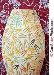 porcelain vas on floral background