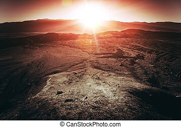 Death Valley National Park - Sunset in Death Valley National...