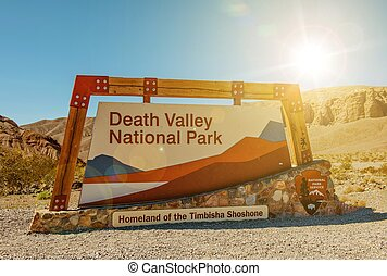 Death Valley Entrance Sign - Death Valley National Park...