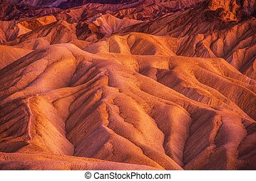 Geology of Death Valley National Park in California, United...