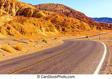 Death Valley Highway, California United States Death Valley...