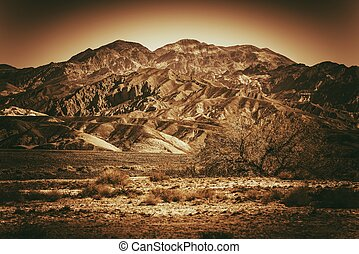 Inhospitable Landscape - Inhospitable Desert Landscape in...