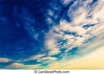 Cloudy Sky Background Photo Partly Cloudy Weather