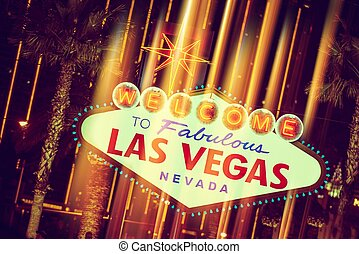 Glowing Las Vegas Sign Welcome To Fabulous Las Vegas Nevada...