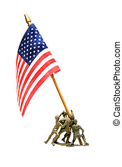 Iwo Jima Memorial - A reproduction of the WWII flag planting...