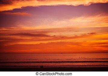 Reddish Beach Sunset Pacific Ocean Scenic Sunset at the...