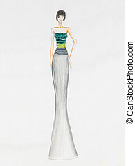 what to wear at cocktail party - fashion sketch ethereal...