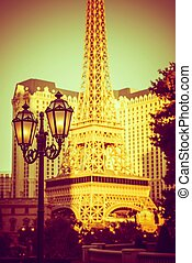 Vintage Vegas Lantern Lighting and the Strip Buildings Las...
