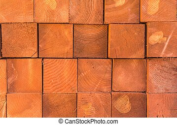 Square Wood Logs Stack Background. Wood Logs Pile. Wood and...