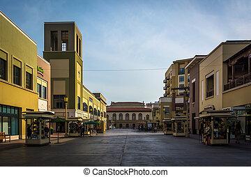 Outdoor pedestrian mall in Pasadena, California.