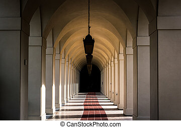 Hallway at City Hall, in Pasadena, California