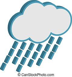 Cloud With Raindrops - Cloud with raindrops weather forecast...