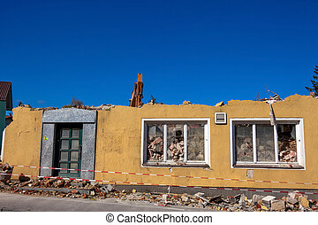 abbruchhaus - a house is demolished. abruchhaus to create...