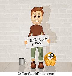 illustration of unemployed