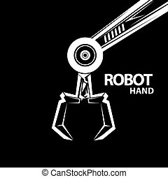vector robotic arm symbol. robot hand - vector robotic arm...