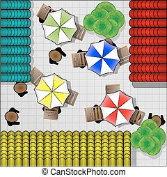 Illustration of restaurants