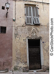 Bonifacio, gammal, dörr