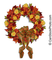 Autumn Fall Floral wreath - Image and Illustration...