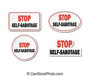 top self-sabotage - sticker sets - suitable for warning...