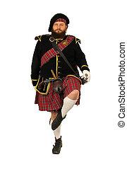 Scottish Scotch warrior - Scottish warrior in the medieval...