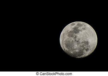 Pełny, księżyc,