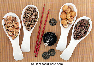 Alternative Medicine - Acupuncture needles and chinese...