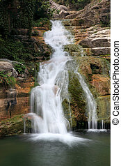 Water falls and cascades of Yun-Tai Mountain China - Water...