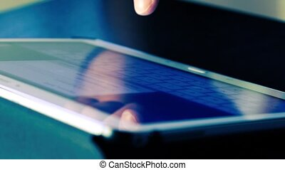 touching keyboard tablet computer
