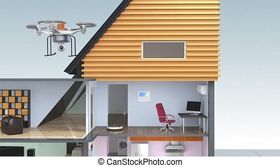 Concept of smart house - Demonstration of smart house...