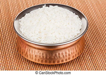 Cooked Rice in Copperware