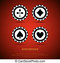 black casino chip