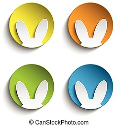 Vector - Set of Four Happy Easter B
