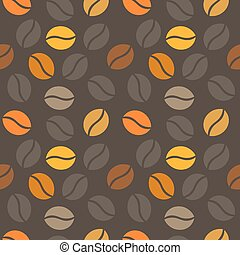 Coffee beans texture Vector illustration